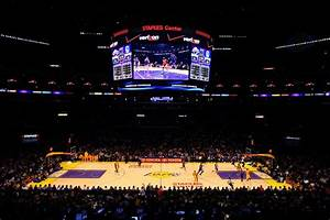 Lakers Clippers Unveil New Staples Center Floors SB