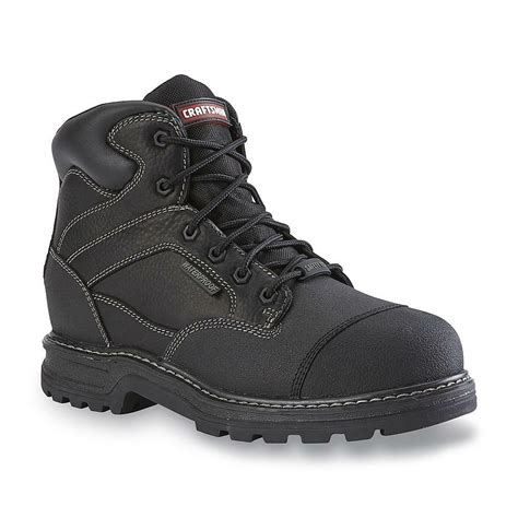 Mens High Quality Leather Safety Work Boots Waterproof Work Shoes