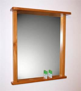 Spiegel Weiß Holzrahmen : wandspiegel bad flur spiegel mit rahmen und ablage massiv holz kiefer honig ebay ~ Indierocktalk.com Haus und Dekorationen