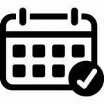 Calendar Icon Check Mark Icons Weekly Svg