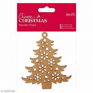 Arbre De Noel En Bois : forme en bois d corer arbre de no l 10 x 9 cm ~ Farleysfitness.com Idées de Décoration