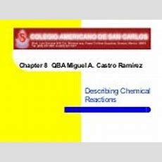 Chapter 81  Describing Chemical Reactions