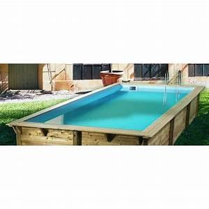 Piscine Bois Ubbink : piscine bois sunwater ubbink 300x555cm h 140cm liner bleu ~ Mglfilm.com Idées de Décoration