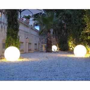 Boule Lumineuse Exterieur : boule lumineuse blanche ext rieure ~ Teatrodelosmanantiales.com Idées de Décoration