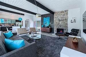 Salon Gris Blanc : bleu turquoise et gris en 30 id es de peinture et d coration ~ Dallasstarsshop.com Idées de Décoration