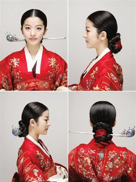 korean traditional wedding  hair