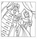 Coloring Princess Pages Belle Disney sketch template