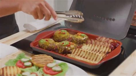 gotham steel hooded grill tv commercial bring  grill   kitchen  burger maker