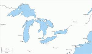Great Lakes States Outline Map Printable Map