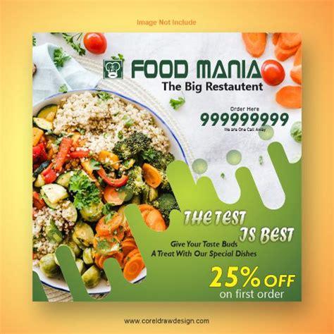 downloading food maniatemplate coreldraw design