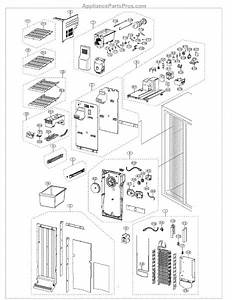 Parts For Samsung Rs261mdwp  Xaa  Freezer Parts