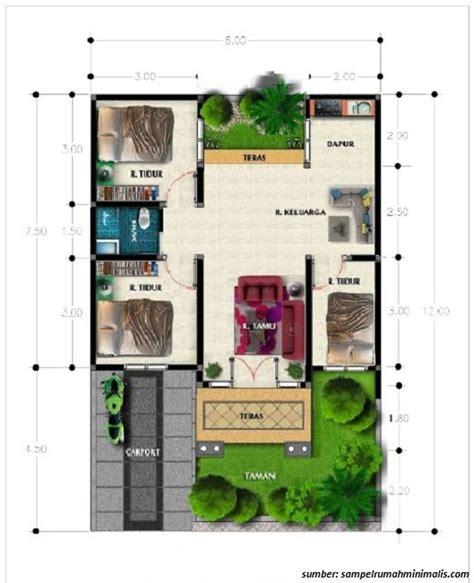 denah rumah 1 lantai ukuran 6x10 3 bedroom denah rumah