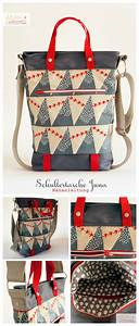 Retro Rucksack Selber Nähen : n hanleitung f r eine praktische schultertasche im shopper bag design sew your own shopper bag ~ Orissabook.com Haus und Dekorationen