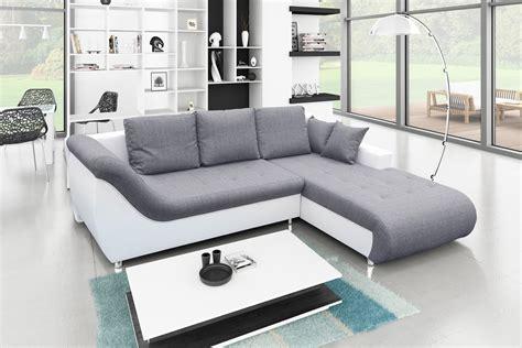 canapé d angle blanc convertible canapé d 39 angle convertible tudor gris blanc achat
