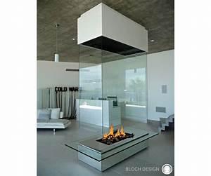 Cheminée Bois Design : cheminee centrale verre ~ Premium-room.com Idées de Décoration