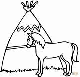 Pages Horse Coloring Wigwam Cabin Log Horses Printable Houses Wood Supercoloring Colouring Dot Drawing Clip Designs sketch template