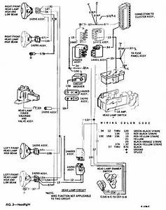 Headlight Schematic Diagram Of 1967 1968 Thunderbird  With