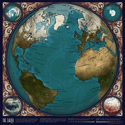Earth Map Space Animated Atlas Maps Data