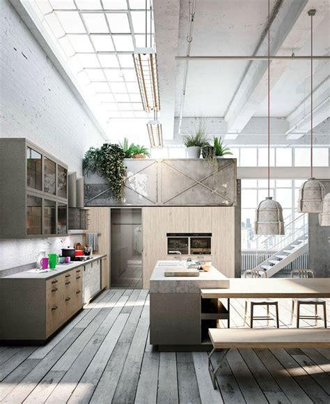 loft style kitchen design  michele marcon interiorzine