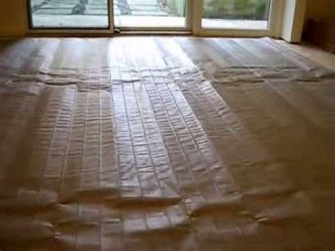 how to install nuheat electric heated mat radiant flooring