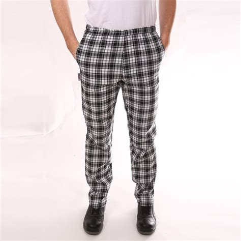 pantalon de cuisine noir pantalon de cuisine gros carreaux