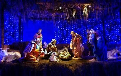 Nativity Scene Desktop Christmas Wallpapers Cave Mobile