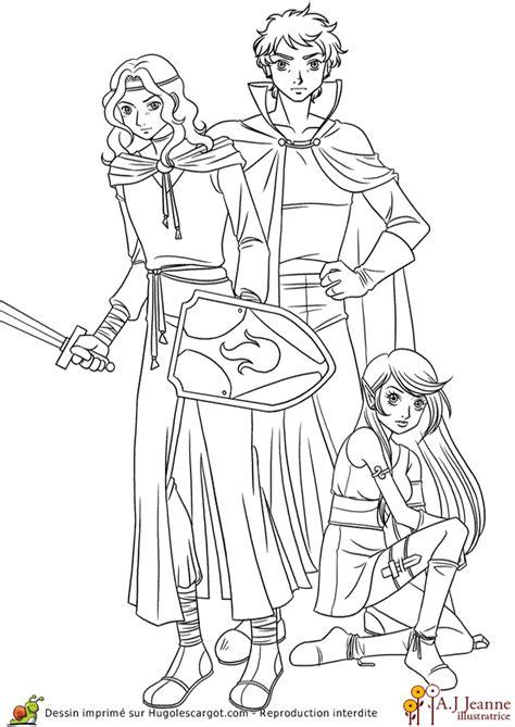 coloriage manga heroic fantasy sur hugolescargotcom