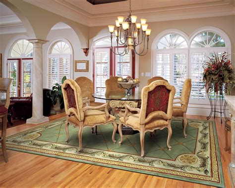 rug under dining table the best size for your dining room rug rug home