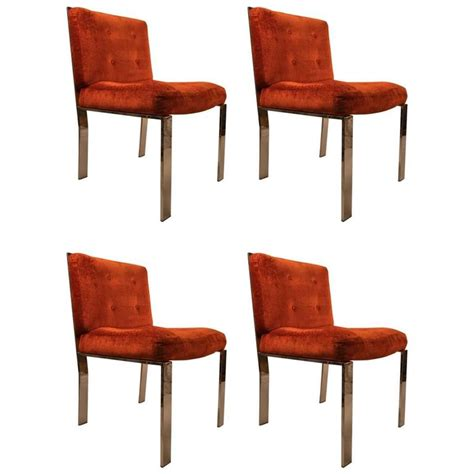 four milo baughman dining chairs for sale at 1stdibs