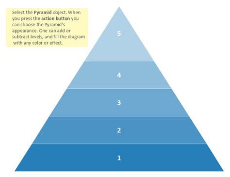Venn Diagram Template Pyramid Five Level