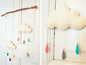 Mobile Baby Selber Basteln : diy anleitung wolken mobile basteln via ~ Michelbontemps.com Haus und Dekorationen