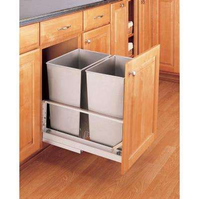 kitchen garbage storage pull out trash cans kitchen cabinet organizers the 1759