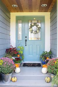 simple, fall, front, porch, decor