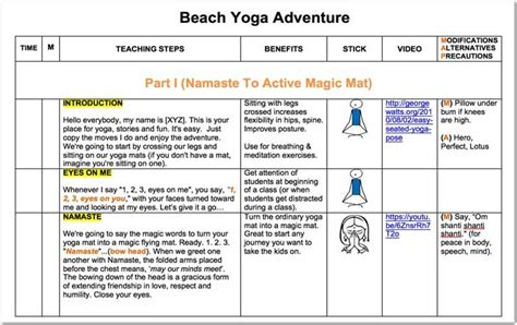 Kids Yoga Teacher Lesson Plan Kit