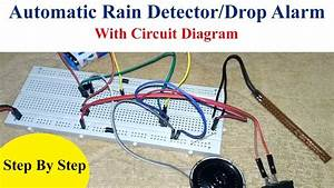 Automatic Rain Detector Alarm Diy Project Without Ic And