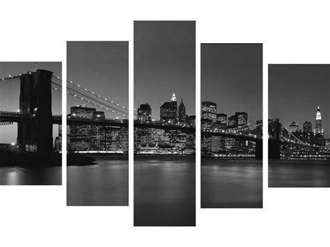 5 toiles 150x100 cm pont de brooklin conforama pickture