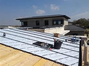 alecomte couverture couverture charpente ossature With maison bois toit plat 4 velux toit plat extension 1000x1125 la maison des