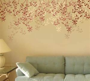 Wall stencil ideas for living room com on flower stencils for Amazing options for accent wall ideas