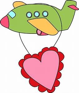 Valentine's Day Airplane Clip Art - Valentine's Day ...