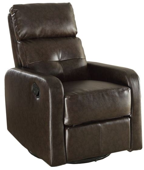 brown swivel chair brown swivel glider recliner from monarch 8085br 1840