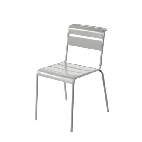 chaise en metal chaise de jardin métal lutetia