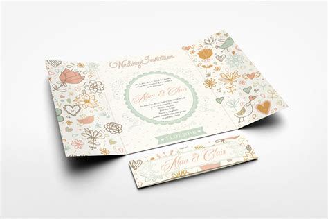 gatefold wedding invitation mockup  behance