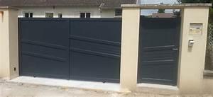 Portail En Aluminium : portail et portillon en aluminium ty braz ~ Melissatoandfro.com Idées de Décoration