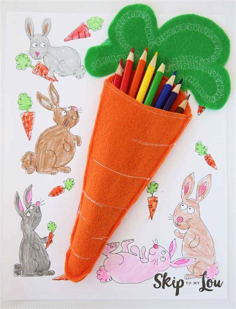 felt carrot pencil holders skip   lou