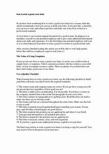 how to write cover letter for job application example