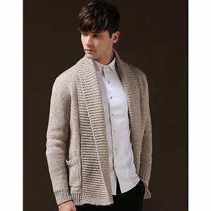 Echarpe Homme Tricot : gilet en tricot pour homme avec col large effet charpe ~ Melissatoandfro.com Idées de Décoration