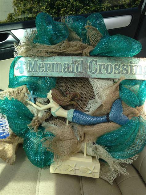 mermaid wreath mermaid diy crafts wreath crafts mesh