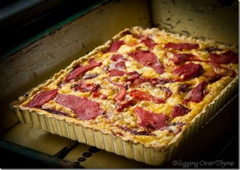 Recipe for italian scalloped potatoes with goat cheese: Roasted Red Pepper and Goat Cheese Tart   Recipe   Cheese tarts, Goat cheese tart, Stuffed peppers