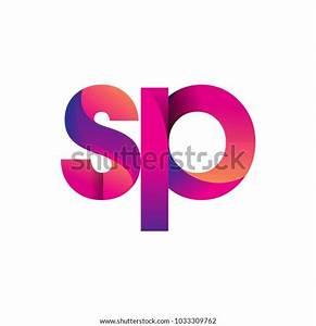 Initial, Letter, Sp, Logo, Lowercase, Magenta, Stock, Vector