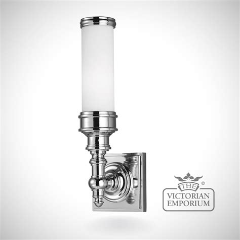 payne bathroom single wall light in polished chrome